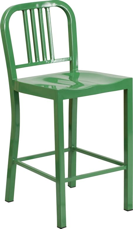 Outdoor Metal Counter Stools by Outdoor Colorful Metal Counter Height Bar Stool 24 Inch Seat
