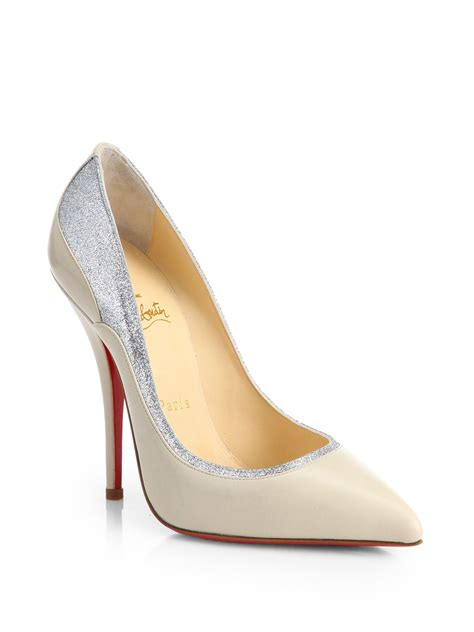 Two Tone Pumps christian louboutin tucsy two tone leather pumps in