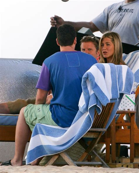 Just Go 5 aniston photos photos on the set of just