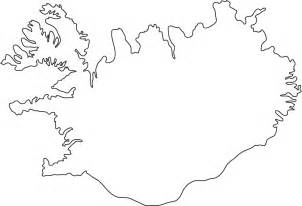 outline map of iceland outline map