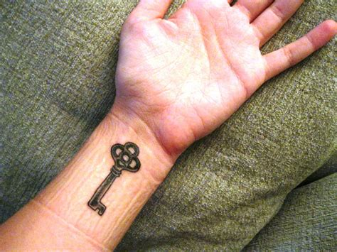 key tattoos on wrist key tattoos and designs page 5