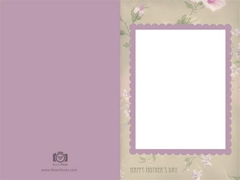 15 Mother S Day Psd Templates Free Images Mother S Day Card Templates Free Mother S Day Card Free Card Templates For Photos