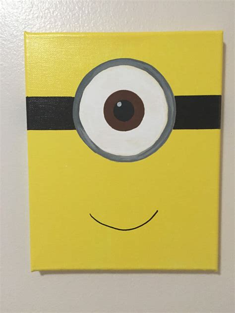 painting for 11 years minion canvas