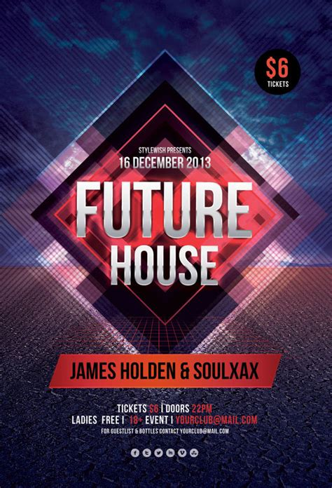 house music flyer modern party flyers templates design graphic design junction