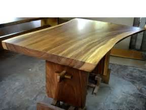 large wood dining table natural curve bali indonesia solid wood dining tables vermont woods studios