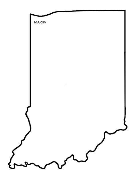 Indiana State Outline Clipart by 27 State Of Indiana Outline Clip