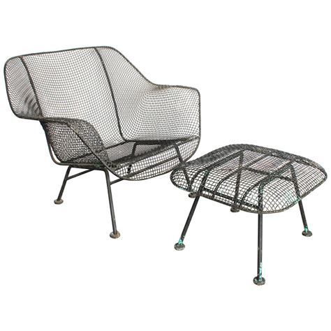 mid century outdoor lounge chairs mid century sculptura garden lounge chair and ottoman by