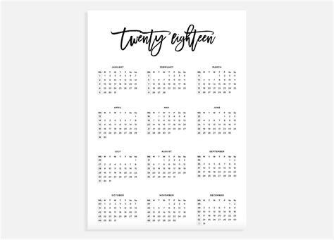 Calendar 2018 A3 2018 Calendar A3 Calendar With Week Numbers 2018 Year