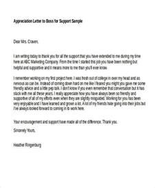 Appreciate Your Support Sle Letter Appreciation Letter To Manager For Support 28 Images Appreciation Letter To Coworker For