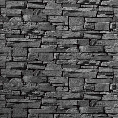 wallpaper for walls grey grandeco dax dry stone wall slate brick effect vinyl