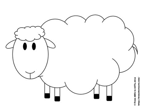 Printable Sheep Template try counting sheep printable counting activity for