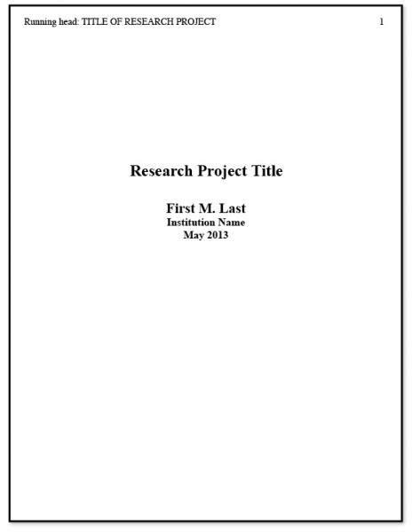 best 25 apa title page exle ideas on