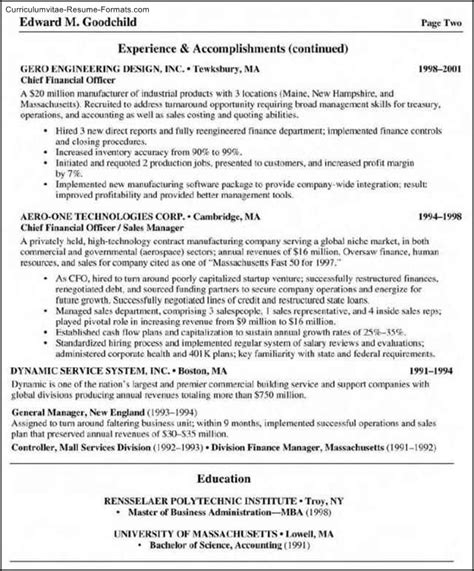 Business Management Resume Template by Business Management Resume Template Free Sles