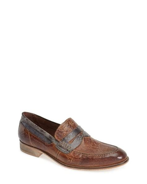 bacco bucci loafers bacco bucci polari loafer in brown for lyst