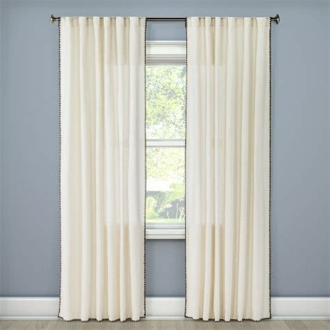 curtain stores in nj stitched edge curtain panel threshold target