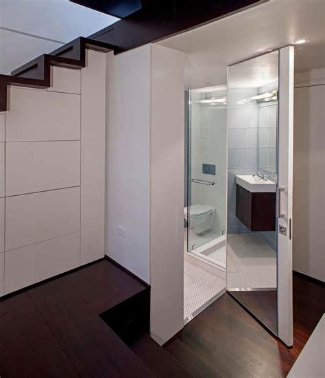micro bathroom ideas manhattan micro loft mirrored bathroom interior design