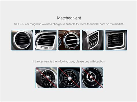 qi charger magnet nillkin car magnetic qi wireless charger black