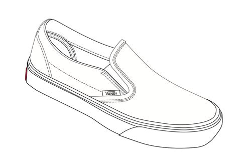 stron biz shoe drawing template