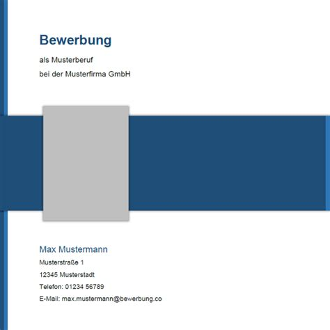 Bewerbungsmappe Deckblatt Xing Muster 15 Bewerbung Co