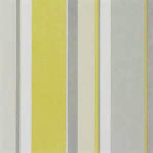 Bella Home Interiors by Bella Stripe Wallpaper Pale Lime Grey Silver 110045