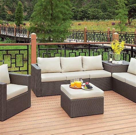 Davina Set davina patio sofa set with storage ottoman