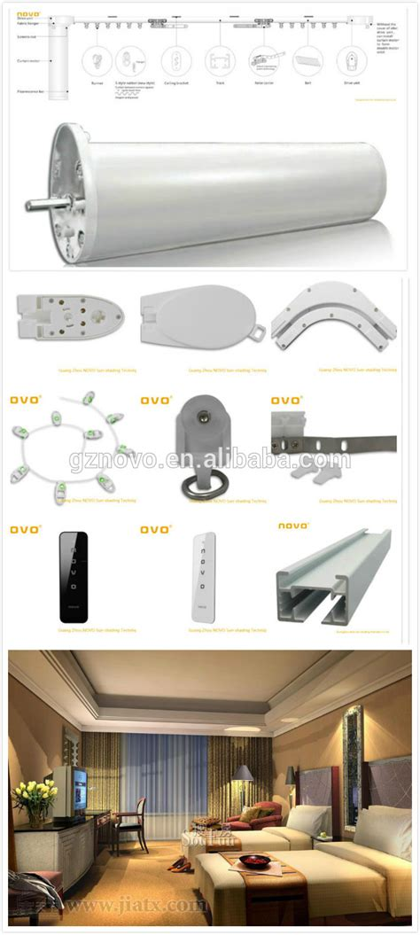 motorized light track novo automatic hotel curtain track with remote