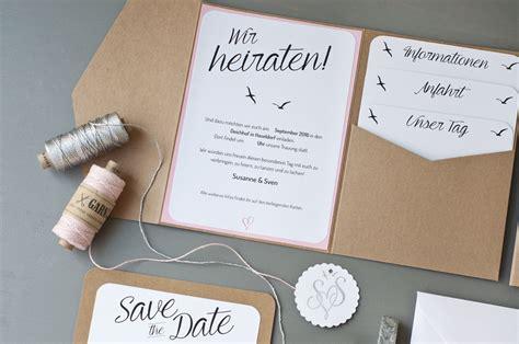 Einladung Hochzeit Schlicht by Unsere Hochzeitseinladungen Serendipity