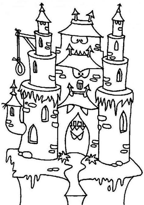 halloween coloring pages castle halloween coloring pages castle