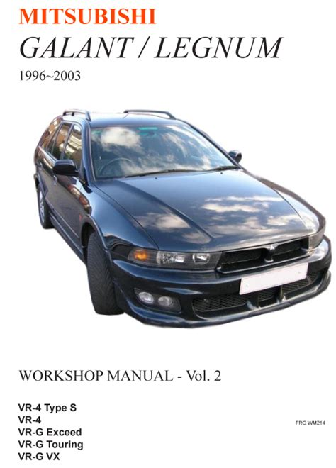 best auto repair manual 2004 mitsubishi galant interior lighting mitsubishi galant legnum workshop manual 1996 2003