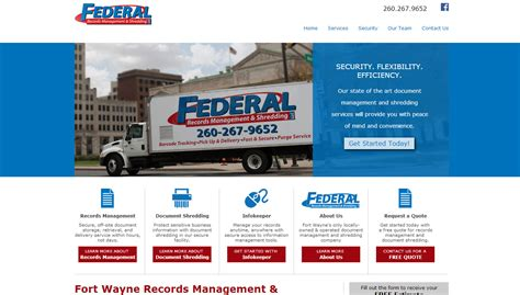 Federal Records Fort Wayne Web Design Production Portfolio Hd Marketing Design