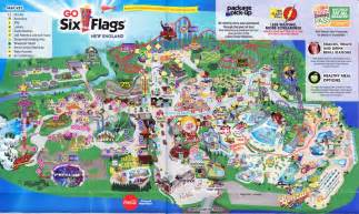 six flags map six flags new 2016 park map