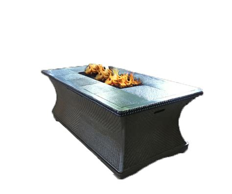 outdoor gas pit coffee table monterey series