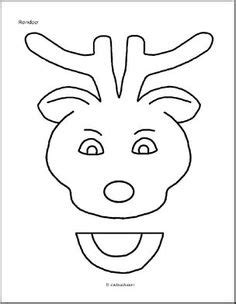 printable reindeer puppet paper bag puppet santa sle from our membership site