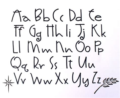 alphabet font styles the best letter sle