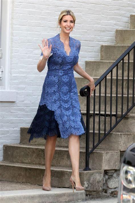 summer dress pix 20015 ivanka trump in a blue summer dress washington d c 07
