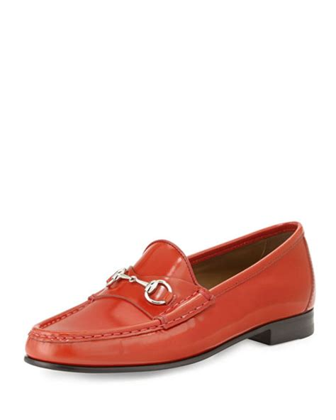 orange loafers gucci 1953 horsebit leather loafer orange