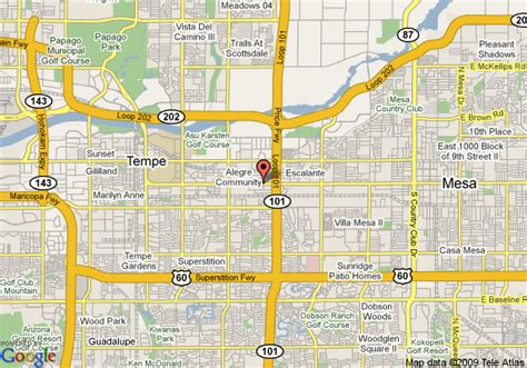 asu cus map map of econo lodge at az state tempe