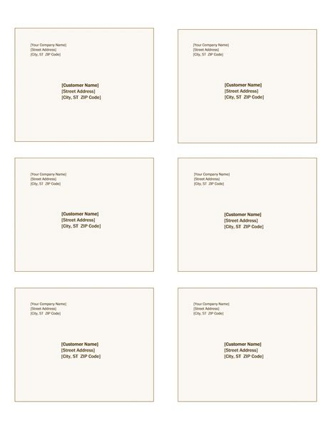 shipping labels sienna design 6 per page works with