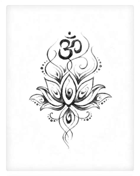 collection of 25 hindu ohm and lotus tattoo design