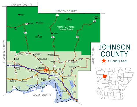 Johnson County Search Arkansas County Map Images