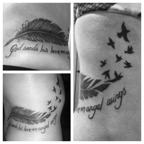 angel wings quote tattoo feather and bird tattoo quot god sends his love on angel