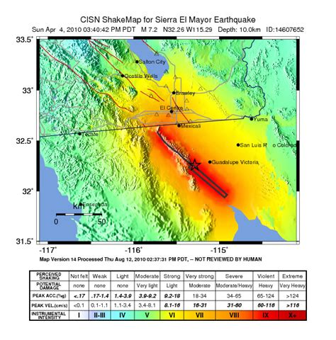 usgs earthquake map california 2010 baja california earthquake