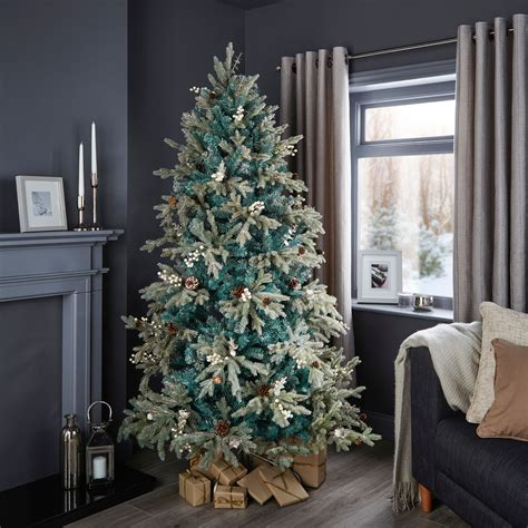 b and q best christmas trees 6ft 6in winterfold mint green pre decorated tree departments diy at b q