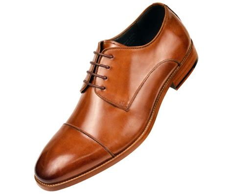 leather cap toe lace up oxford dress shoe with wood sole