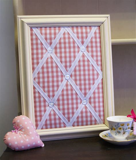 Handmade Notice Board - handmade framed fabric noticeboard by altered chic