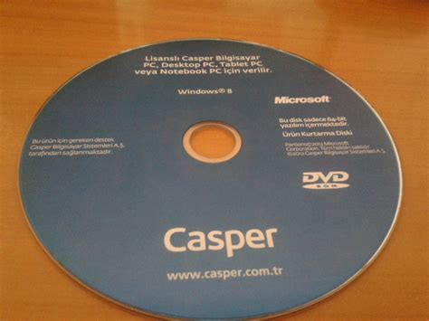 format cd si nerede satilir casper kurtarma dvd ile hp notebook format