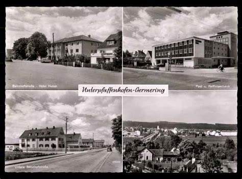 deutsche bank germering ansichtskarte postkarte unterpfaffenhofen germering