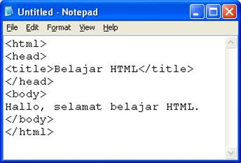 cara membuat web notepad cyber community world kumpulan perintah perintah html