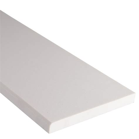 ms international white single beveled 6 in x 37 in engineered marble threshold floor and wall