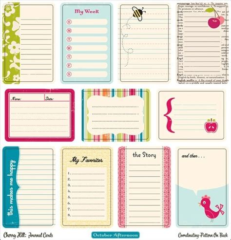 printable journal designs free printable journaling cards i confese love